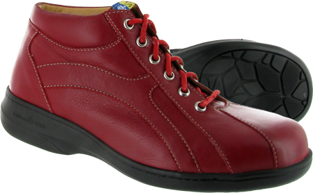 Mellow Walk Daisy SD safety shoe in red leather